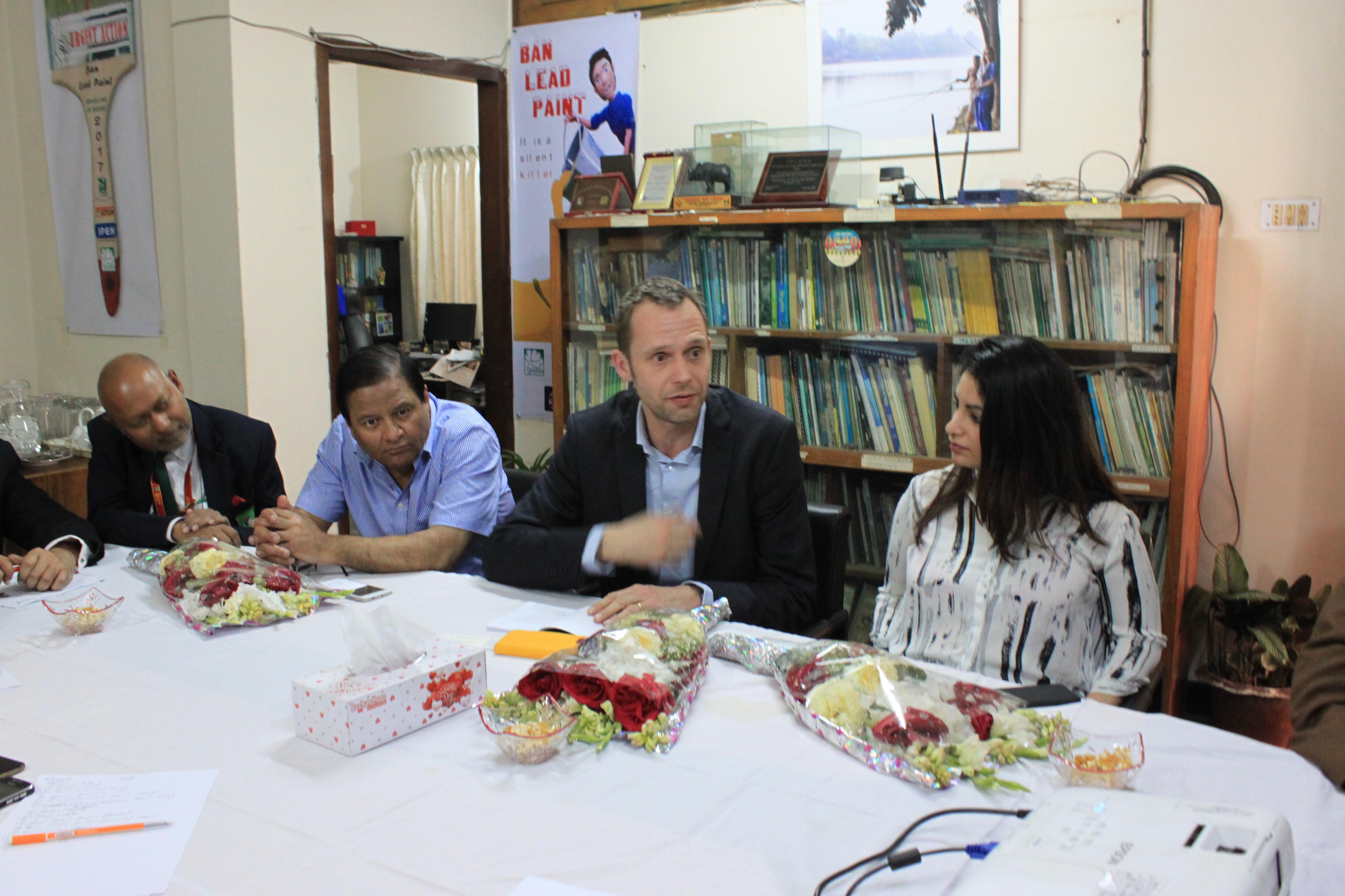 Swedish MP Meet ESDO team: Emphasized on Environmental Pollution in Bangladesh