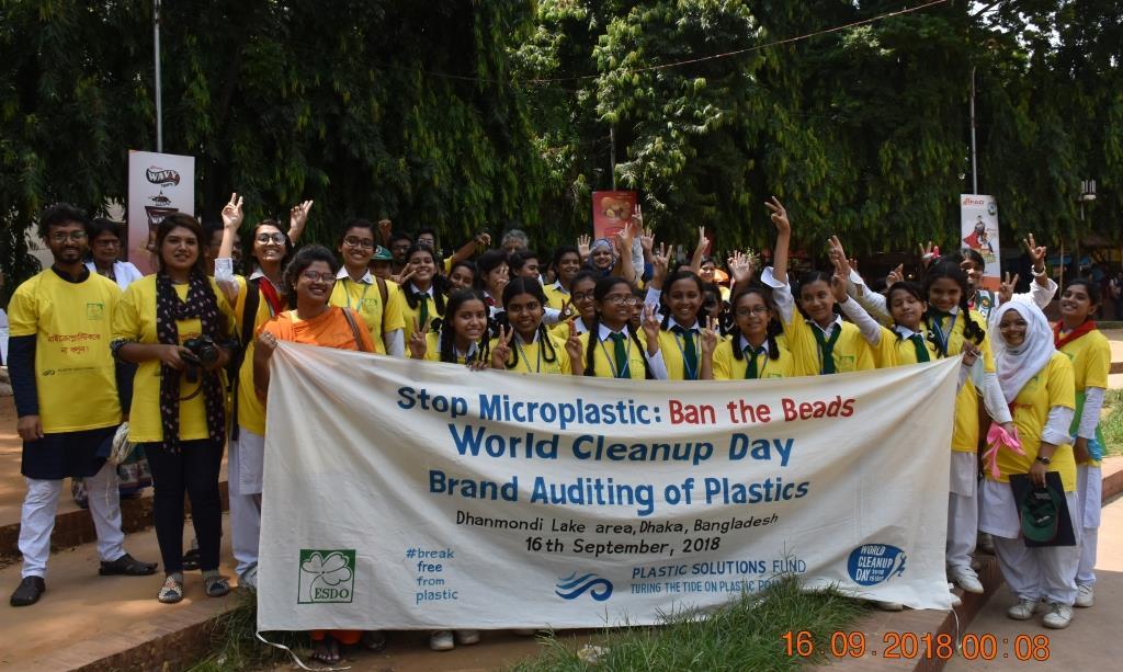 World Cleanup day and Plastics Brand Audit at Dhanmondi Lakeside Dhaka