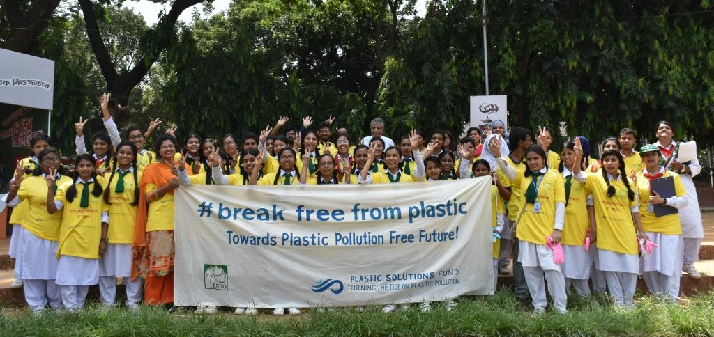 "ESDO Team and Volunteers for ""Break Free From Plastic"" movement"