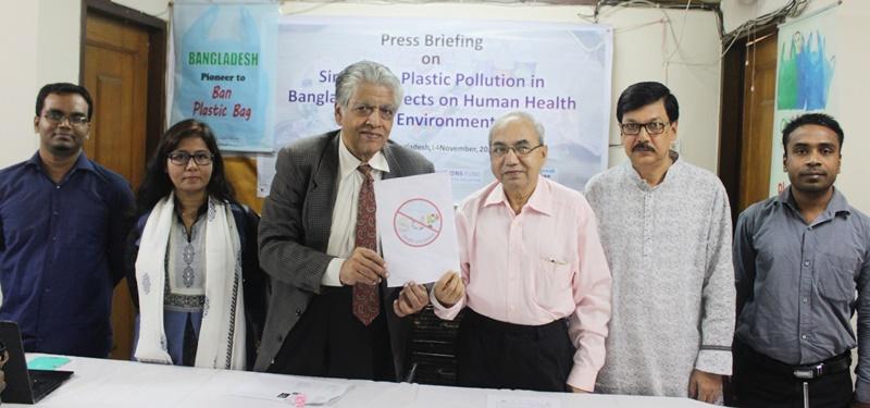 press briefing on single use plastic