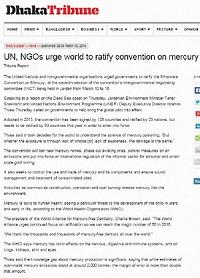 UN, NGOs urge world to ratify convention on mercury