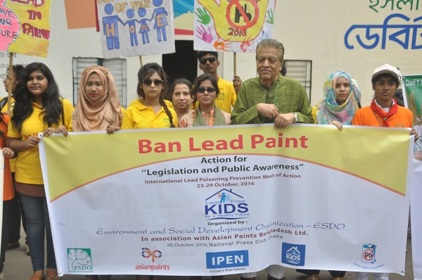 Activist group demanded ban lead paint in Bangladesh by 2017
