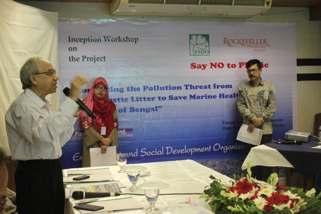 A Ban on microplastics specially microbeads urged by experts, academicians, environment activists