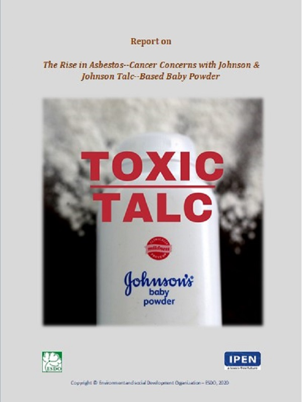 """Report on """"The Rise in Asbestos–Cancer Concerns with Johnson & Johnson Talc–Based Baby Powder"""""""