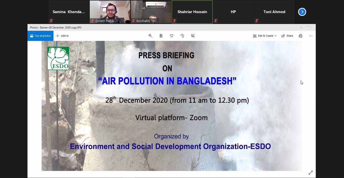 "Press Briefing on ""Air Pollution in Bangladesh"""