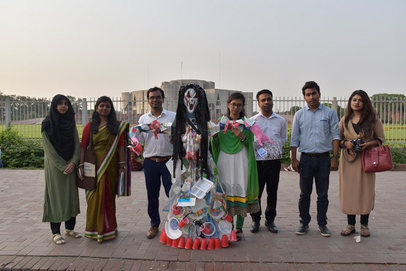 As part of Global #PlasticMonster Campaign ESDO organized campaign on #Stop_growing_plastic_monsters. Nestlé and Unilever should stop using single-use plastic.