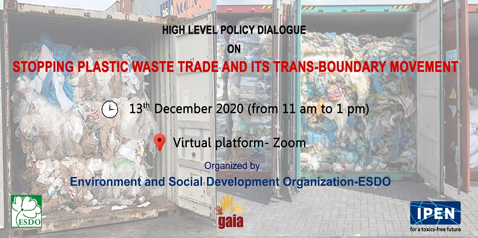 "High-Level Policy Dialogue on ""Stopping Toxic Plastic Waste and its Transboundary Movement"""