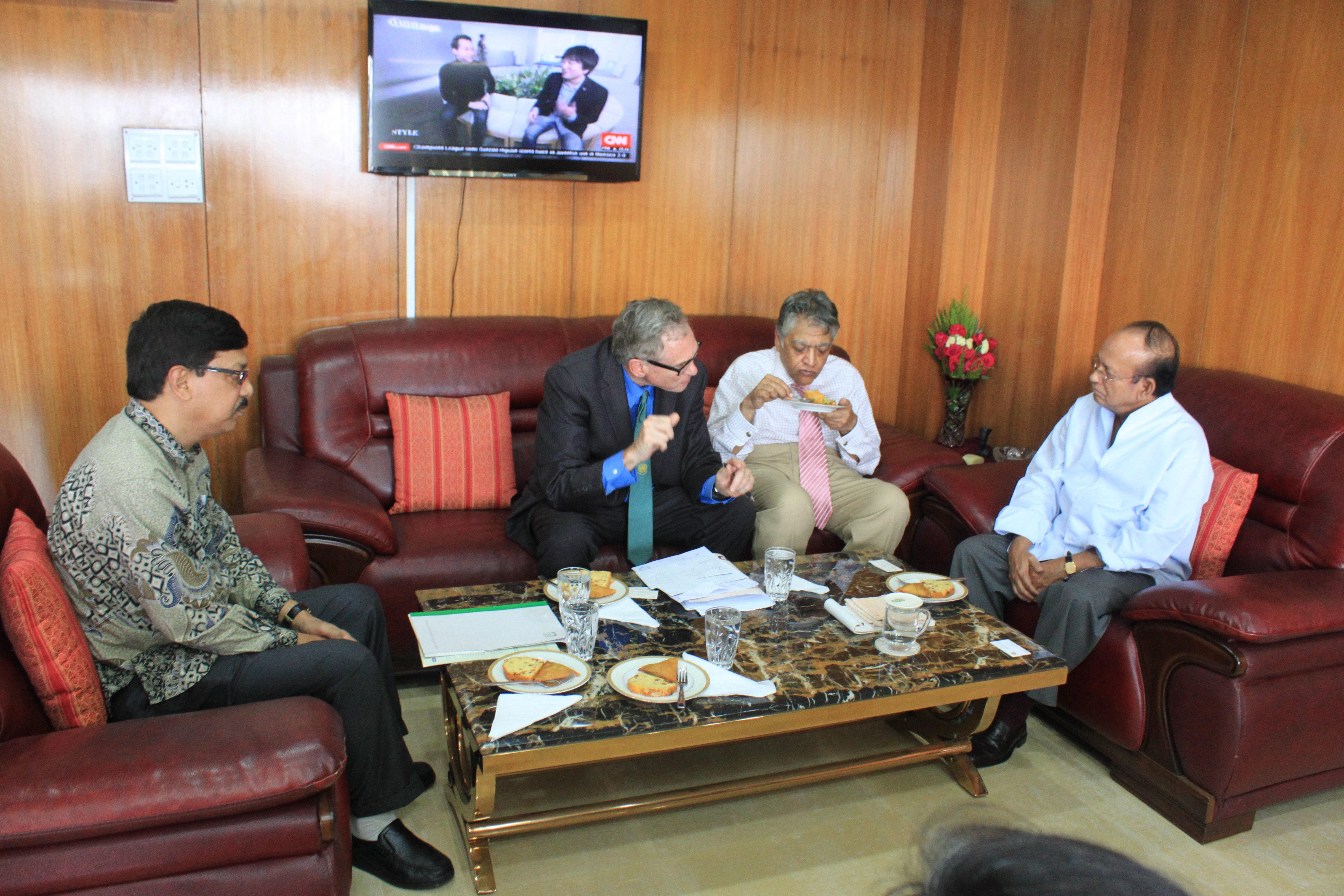 Charles G. Brown along with ESDO team visited  Honorable Minister, Mr. Anwar Hossain Manju, MP, Ministry of Environment and Forests (MoEF)