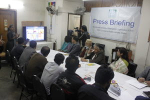 "Press briefing on ""Prevalence of plastic lamination use in posters and leaflets"""