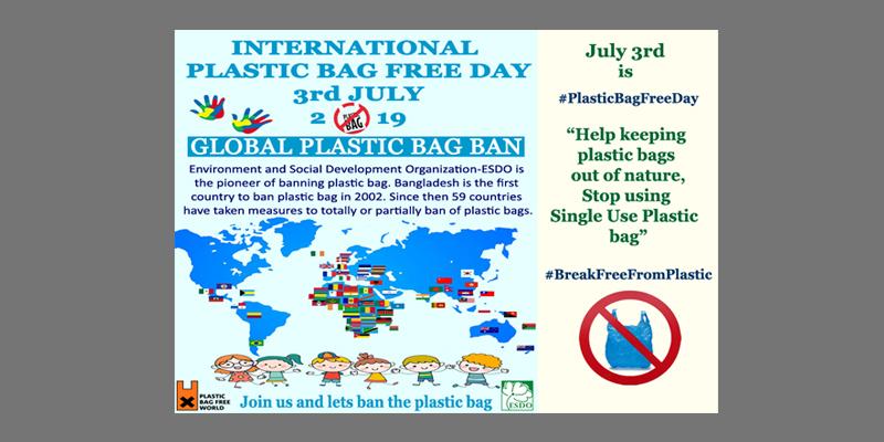 International Plastic Bag Free Day, 3rd July, 2019. #PlasticBagFreeDay #breakfreefromplastic